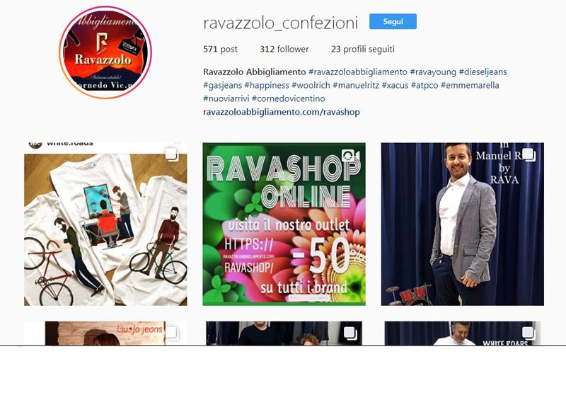 Instagram Ravazzolo Confezioni